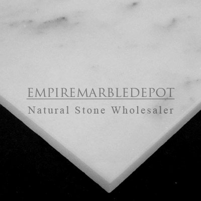 Carrara marble italian white bianco carrera 18x18 marble for Carrara marble per square foot