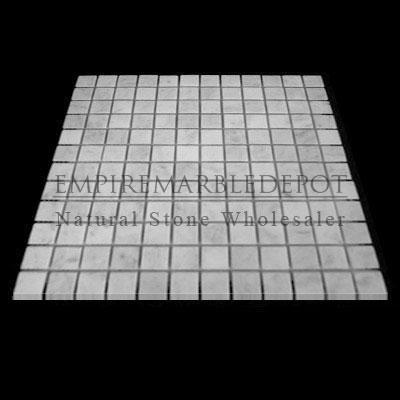 Carrara Marble Italian White Bianco Carrera 1x1 Mosaic