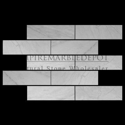 Carrara marble italian white bianco carrera 4x12 marble for Carrara marble per square foot