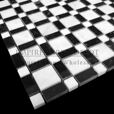 Carrara Marble Italian White Bianco Carrera Square Pattern